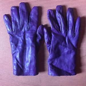 Paul Smith winter leather gloves with wool lining
